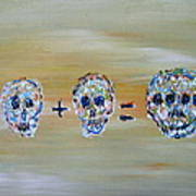 Skull Mathematics Poster