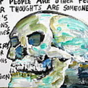 Skull Quoting Oscar Wilde.10 Poster
