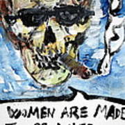 Skull Quoting Oscar Wilde.6 Poster