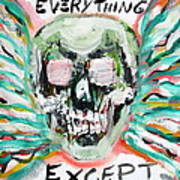 Skull Quoting Oscar Wilde.7 Poster