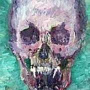 Skull Vampire Oil Portrait Poster