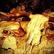 Skulls In Sepia Poster