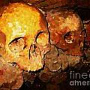 Skulls In The Paris Catacombs Poster