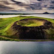 Skutustadagigar Pseudo Craters, Lake Poster