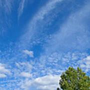 Sky Blue Summer Art Poster