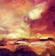 Sky Fire Abstract Realism Poster