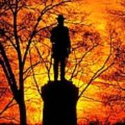 Sky Fire - Flames Of Battle 50th Pennsylvania Volunteer Infantry-a1 Sunset Antietam Poster