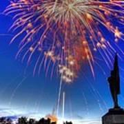 Sky Fire - Pennsylvania At Antietam - 132nd Pa Volunteer Infantry July 4th 2014 - 1b Poster