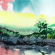 Sky N Lake Poster