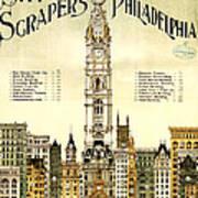 Sky Scrapers Of Philadelphia 1896 Poster