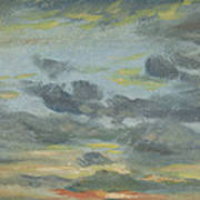 Sky Study, Sunset, 1821-22 Poster