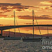 Skye Bridge Sunset Poster