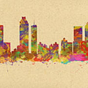 skyline of Atlanta Georgia Poster