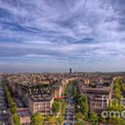 Skyline Of Paris Poster