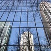 Skyscraper Reflections - Charlotte Nc Poster by Shelia Kempf