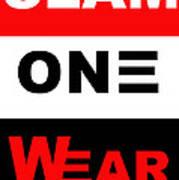 Slam One Wear Poster