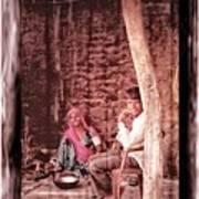 Slice Of Life Mud Oven Chulha Tandoor Indian Village Rajasthani 1c Poster