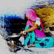 Slice Of Life Mud Oven Chulha Tandoor Indian Village Rajasthani 2 Poster