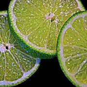 Sliced Limes Poster