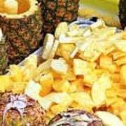 Sliced Pineapple Poster