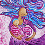 Sling Dance Motherhood Babywearing Dance Artwork Poster