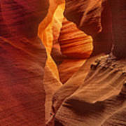 Slot Canyon Detail Corkscrew Or Upper Antelope Slot Canyon Arizona Poster