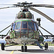 Slovakian Mi-17 With Digital Camouflage Poster
