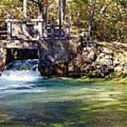 Sluice Gate At Alley Spring Poster