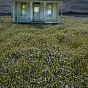 Small Cottage In Storm Poster