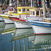Small Fishing Boats Of San Francisco  Poster by George Oze