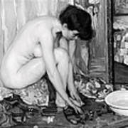 Small Nude Painting By Albert Worcester C. 1910 Poster
