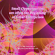 Small Opportunities Poster