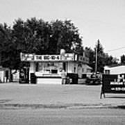 small roadside diner leader Saskatchewan Canada Poster