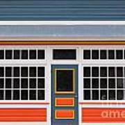 Small Store Front Entrance Colorful Wooden House Poster