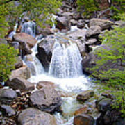 Small Waterfall Near Hwy 120 Roadside In Yosemite Np-ca- 2013 Poster