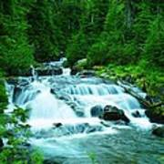 Small Waterfall On The Paradise River Poster