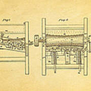Smith Corn Sheller Patent Art 1854 Poster