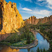 Smith Rock River Bend Poster