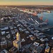 Smith Tower And West Seattle Poster
