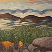 Smokey Mountain Sunset Poster