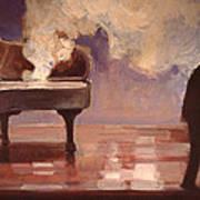 Smokin Piano Poster