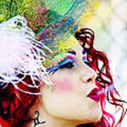 Smoking Redhead Poster