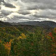 Smoky Mountain Autumn View Poster