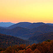Smoky Mountain Sunrise Poster