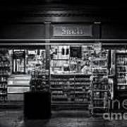Snack Shop Bw Poster