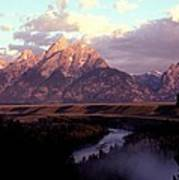 Snake River Overlook At Dawn  Poster