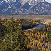 Snake River Overlook One Poster