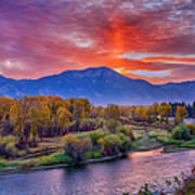 Snake River Sunrise Poster
