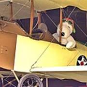 Snoopy In His Biplane Poster