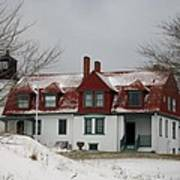 Snow At Point Betsie Poster
